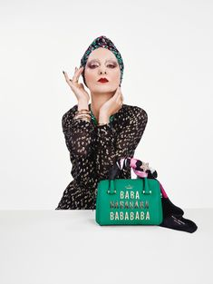 Catherine Baba stars in Kate Spade's Holiday 2016 campaign - love the scarf around the handle