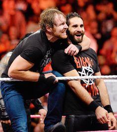 wwe and Friends. Dean Ambrose Seth Rollins, Wwe Dean Ambrose, Wwe Seth Rollins, Seth Freakin Rollins, Brie Bella, Nikki Bella, Wwe Funny, The Shield Wwe, Wwe World