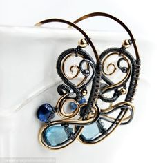 Parisian Earrings   Magdalena Borejko - designer gemstone jewelery