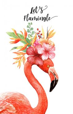 mom gift for dad ORIGINAL watercolor FLAMINGO painting boss office