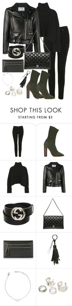 """""""Untitled #3554"""" by theeuropeancloset ❤ liked on Polyvore featuring Topshop, adidas Originals, Acne Studios, Gucci, Chanel and Yves Saint Laurent"""