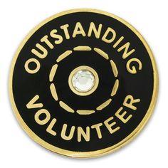 Outstanding Volunteer Pin | PinMart