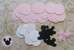 Minnie Mouse Head Ear Bow Shapes Scallop by sandylynnbscrapping, $5.00