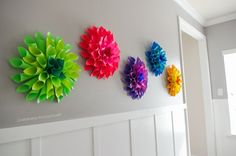 Craftaholics Anonymous® | DIY flowers that are art. It also comes with an easy tutorial.