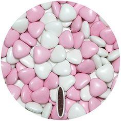 Leckere Schokoherzen in weiss & rosa fast kostenlos? Diese Schokoherzen eignen sich perfekt für Ihre Gastgeschenke & Candy Bar bei der Hochzeit. Herzdragees von EinsSein schmecken auch noch besonders lecker. Choco hearts in white & light pink for your wedding favours from EinsSein. #EinsSein