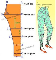 Super sewing pants pattern how to make Ideas Dress Sewing Patterns, Clothing Patterns, Churidar Pattern, Pattern Drafting Tutorials, Cut Clothes, Sewing Blouses, Sewing Pants, Pants Pattern, Pattern Dress