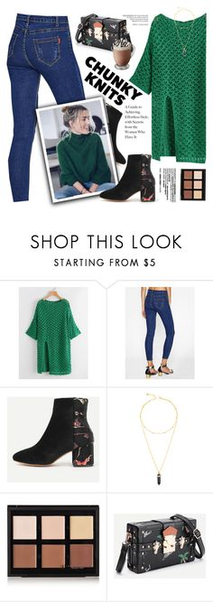 """""""Chunky Knit - Green"""" by yexyka ❤ liked on Polyvore featuring Anastasia Beverly Hills"""