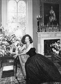 Karen Graham, evening dress by Frank Massandrea, photo by Skrebneski for Estée Lauder, 1981