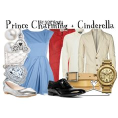 """Prince Charming + Cinderella"" by lalakay on Polyvore"