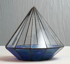Vintage handmade huge leaded stained glass by CrowRidgeStudios, $200.00