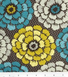 this is fun...Legacy Studio Fabric- Brown Exploded Floral & quilting fabric & kits at Joann.com