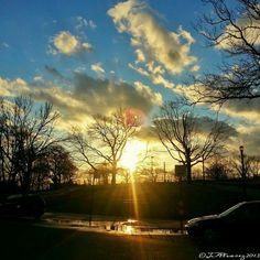 Sunset in Crotona Park-- Bronx, New York