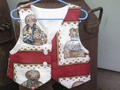 Fun gingerbread cookie waistcoat by CrowCottageCrafts on Etsy, $20.00