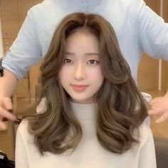 Korean Hairstyles Women, Redhead Hairstyles, Braided Hairstyles, Japanese Hairstyles, Asian Hairstyles, Men Hairstyles, Brown Hair Korean, Hair Korean Style, Hair Color Asian