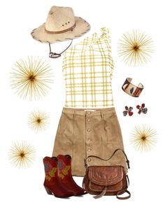 """""""Southern Comfort"""" by m-aviles-ma ❤ liked on Polyvore featuring H&M, Rosie Assoulin, Lizzie Fortunato, L'Artiste by Spring Step, Antik Kraft, Arunashi and Pistil"""