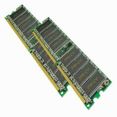 PNY OPTIMA 2GB (2x1GB) Dual Channel Kit DDR 400 MHz PC3200 Desktop DIMM Memory Modules MD2048KD1-400 * Continue to the product at the image link.