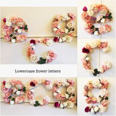 "12""Floral Letters in LOWERCASE