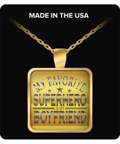 Introducing,  #valentine's gift for him,her , couples my favorite super...  order here:http://familyloves.com/products/my-favorite-superhero-is-my-boyfriend-necklace?utm_campaign=social_autopilot&utm_source=pin&utm_medium=pin