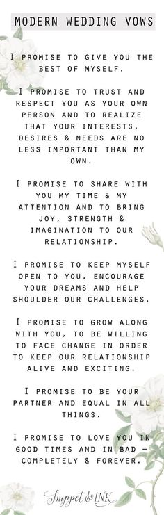 Save this for your wedding day because we have the sweetest and simplest modern wedding day vows you'll want to steal for your own wedding! wedding quotes Modern Wedding Vows You'll Want To Steal! Modern Wedding Vows, Wedding Quotes, Wedding Goals, Wedding Wishes, Wedding Tips, Wedding Engagement, Fall Wedding, Wedding Ceremony, Our Wedding