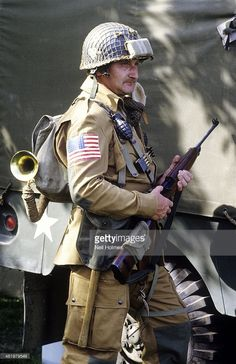 2nd World War historical re enactment, US soldier, American Army