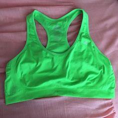 Neon green Jockey sports bra Preowned, has 2 stains as shown Jockey Intimates & Sleepwear Shapewear