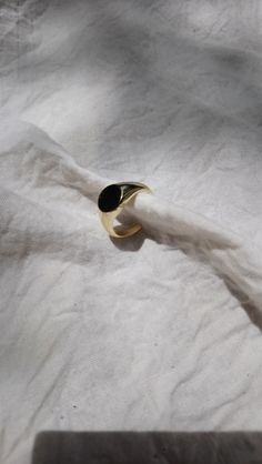 the gold UNSTAMPED SIGNET RING is pure perfection - no need to take this one off, ever! the perfect minimalist jewelry piece for all day, every day wear. Signet Ring, Minimalist Jewelry, Sterling Silver Rings, Gemstone Rings, Sterling Silver Thumb Rings