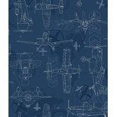 "Found it at AllModern - Walt Disney Kids II Blueprint Planes 33' x 20.5"" Wallpaper"
