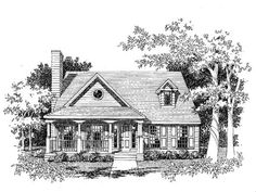 House Plan 41003 | Country   Southern    Plan with 1694 Sq. Ft., 3 Bedrooms, 3 Bathrooms, 2 Car Garage