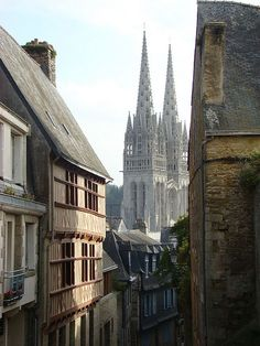 Quimper, France. I really wish the U.S. had places like this, with historical medieval architecture and Old World charm.