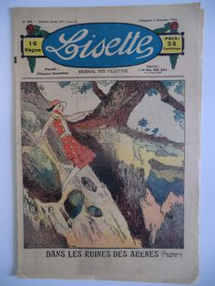Revue Illustrée Lisette N°49 1930 Lecture Broderie Tricot Recette | eBay