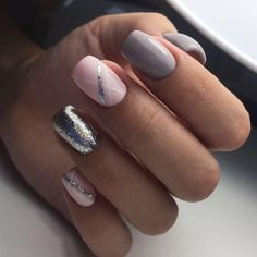 Best Decorated Nail Patterns for Debutants Page 49 of 59 - Nail Designs Gray Nails, Love Nails, Pink Nails, Pretty Nails, Peach Nails, Pretty Nail Designs, Nail Art Designs, Gelish Nails, Shellac