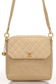 CHANEL Quilted Shoulder Bag In Camel - vintage $2000 (half-price) I know it is NOT practical in this color but STILL.