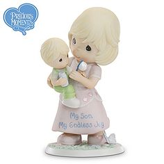 Now, you can celebrate this special bond with a darling Precious Moments® mother and son figurine, available exclusively from the Hamilton Collection. Description from ebay.com. I searched for this on bing.com/images