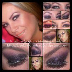 black and purple glitter makeup