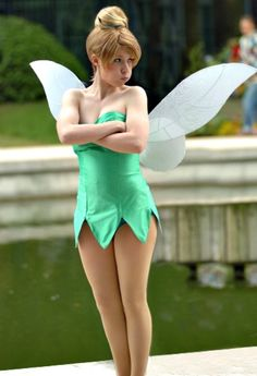 LOVE IT. HALLOWEEN COSTUME WIN! Not a costume.....she's a Disney Tink!!!!!!