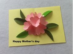 DIY Beautiful Pop Up Flower Card - DIY Mother's Day Card - Createsie