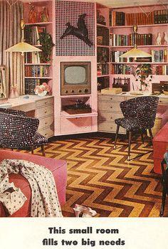 1950s bedroom decor mid century house interior design for Bedroom furniture 77598