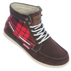 Brakeburn Ride brown tartan check Boots | ScaryCanary