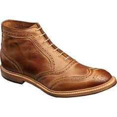 $295, Cronmok Tan Leather Boots by Allen-Edmonds. Sold by Shoebuy. Click for more info: http://lookastic.com/men/shop_items/112111/redirect
