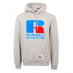 Russell Athletic - Eagle Logo Pullover Hoodie - Steel Marl Eagle Logo, Russell Athletic, Hoodies, Sweatshirts, Graphic Sweatshirt, Pullover, Steel, Logos, Shopping