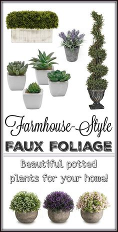Farmhouse-Style Faux Foliage for Your Home