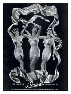 Beaute Harmonie, Vintage Lingerie Advert, 1940s