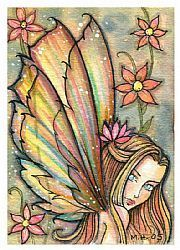 Art: ginger aceo by Artist Molly Harrison