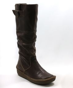 Dark Brown Slouch Boot