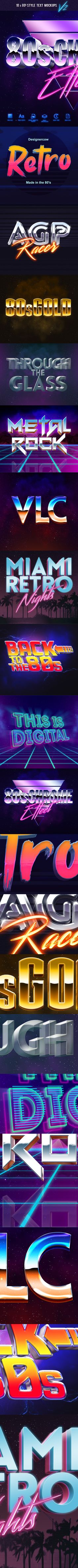 Go back in time and give your text or logo that 80's look in seconds! Get this…