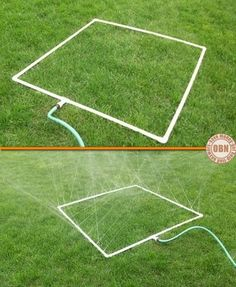 PVC Sprinkler --- wonder if it could be made more like a soaker than a sprinkler?