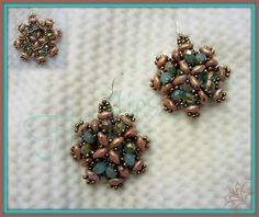 Antique Earrings with Superduo | Flickr - Photo Sharing!