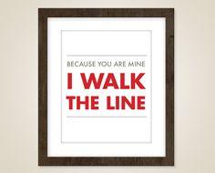 Music art quote - 8 x 10 art print - music art - Johnny Cash lyric poster - I walk the line - Country music Lines Quotes, Art Quotes, Inspirational Quotes, Quote Art, Song Quotes, Motivational, Johnny Cash Lyrics, Calling Quotes, More Lyrics