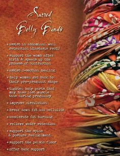 Sacred Living Northern Colorado: Belly Binding is an ancient practice that helps support moms postpartum so that they can heal faster and better. Learn more about this practice and have a mother roaster show you how to do it for yourself on a daily basis