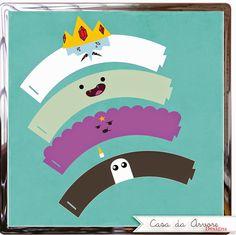 Kit Digital Hora de Aventura - wrappers cupcakes
